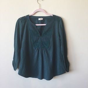 Anthropologie Meadow Rue Teal Blouse